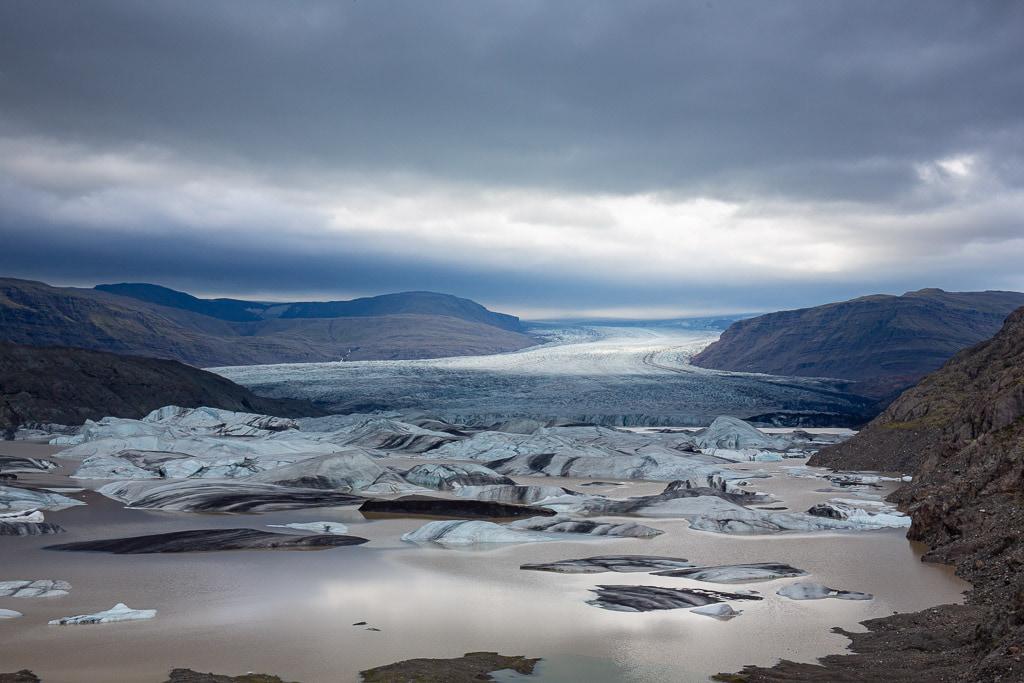 Hoffellsjokull glacier in Iceland