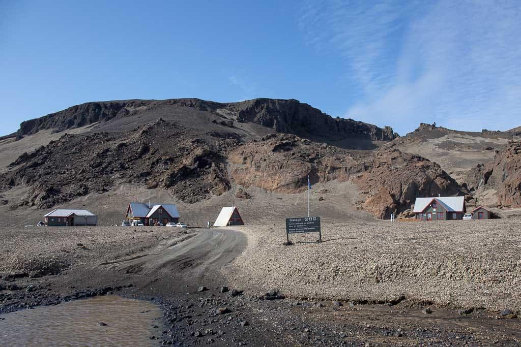 mountain huts at Dreki in iceland