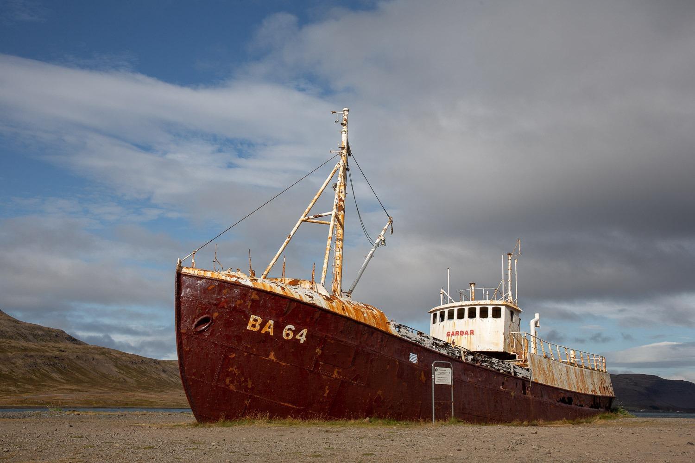 Gardar BA64 shipwreck on the beach in Iceland