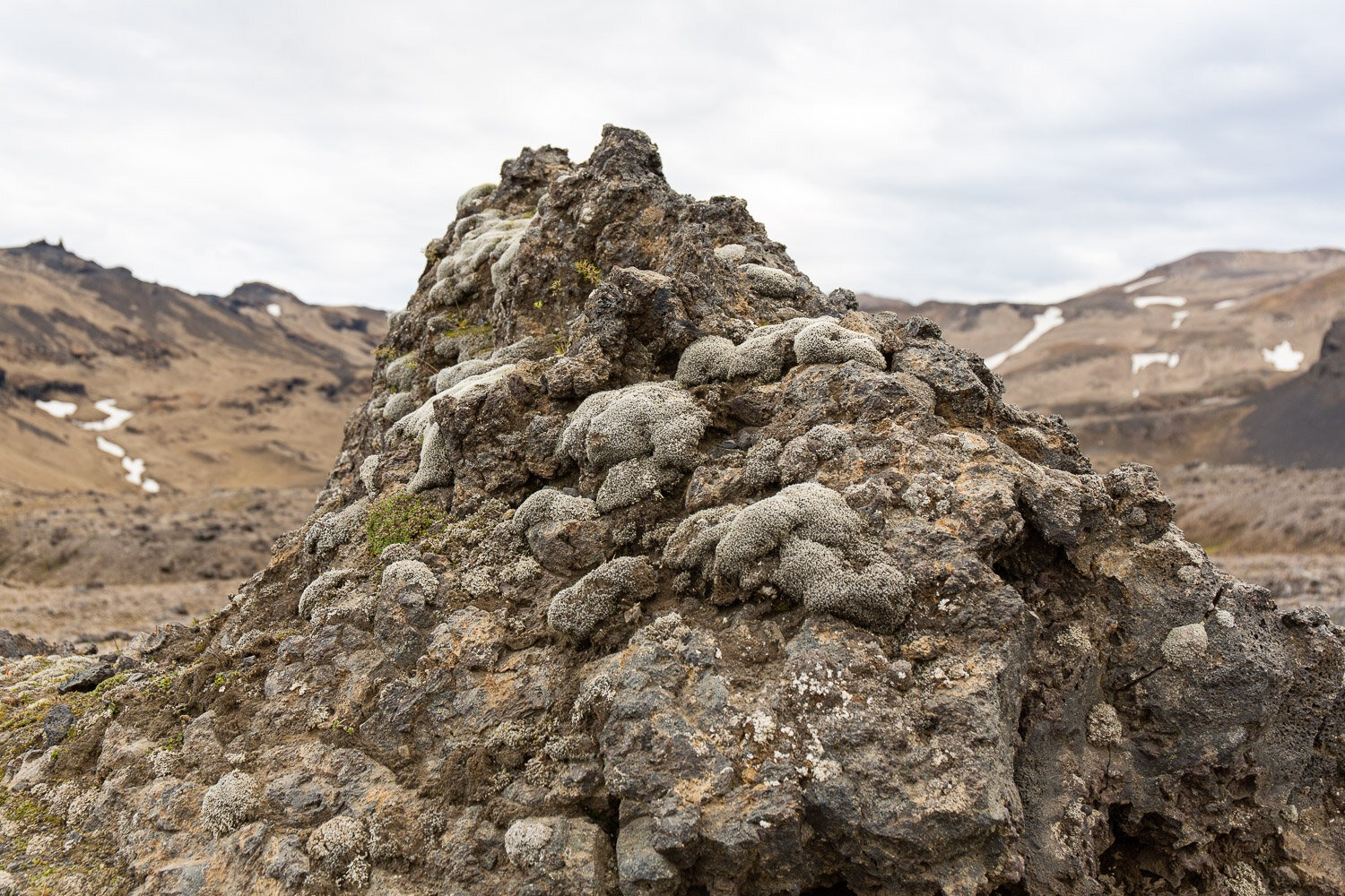 lava cairn at Askja in Iceland