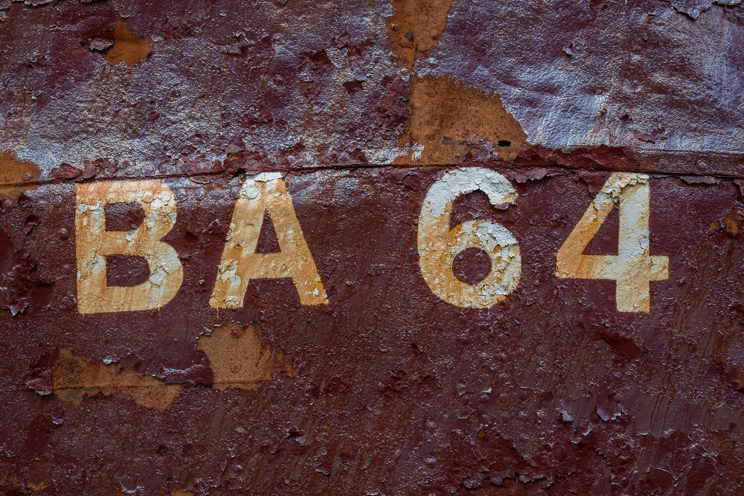 ships number ba 64 in white