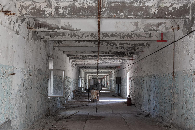 Corridor inside the buildings around the site
