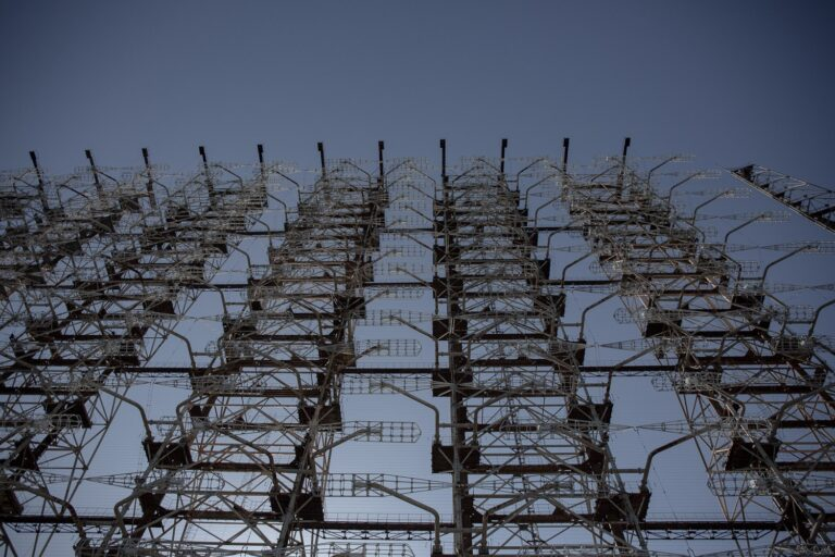 looking up into the sun from the bottom of the antennae