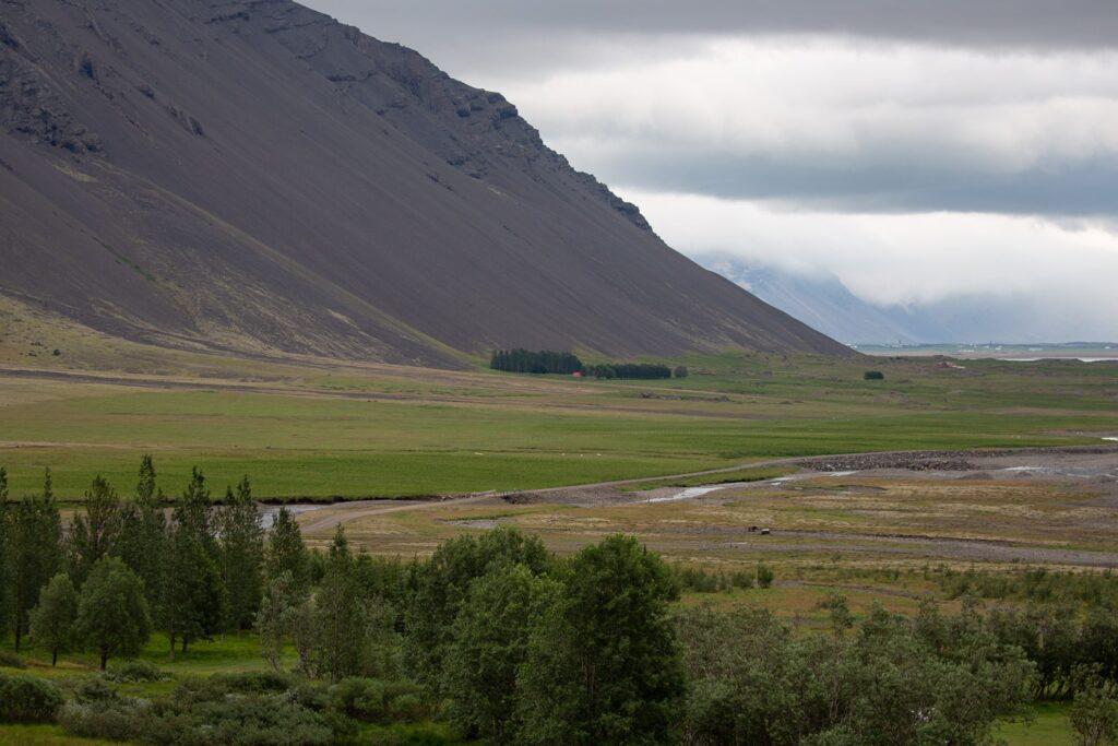 Haukafell looking down the valley towards Höfn