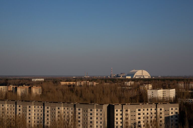 Pripyat city from tower block