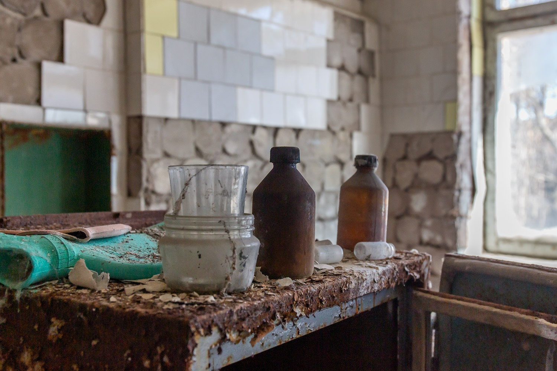 medical bottles and jars