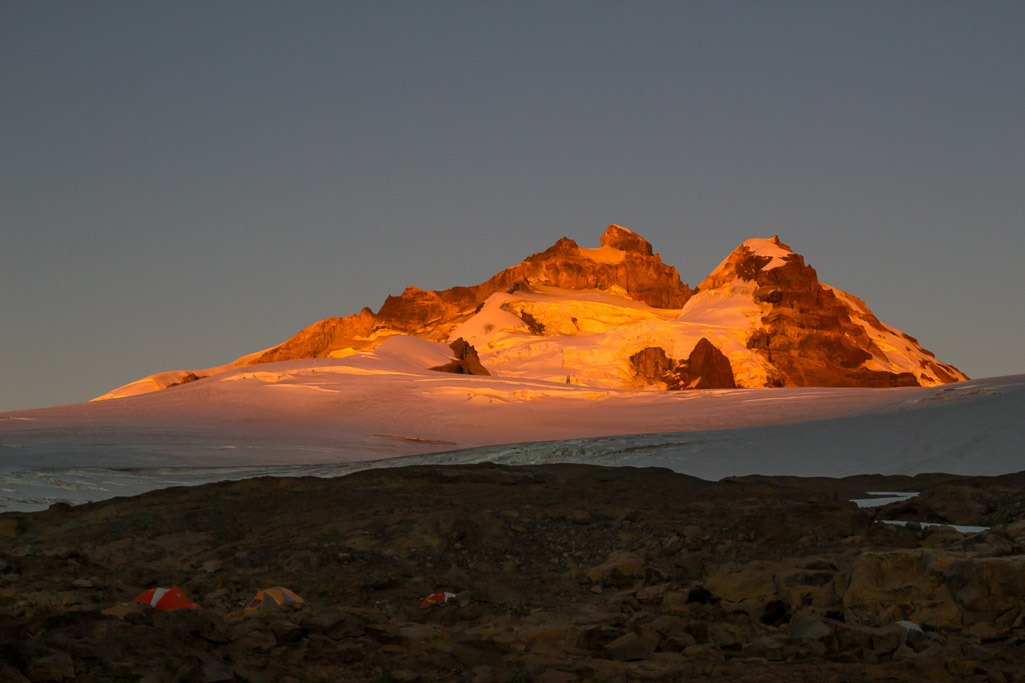 bright morning alpenglow