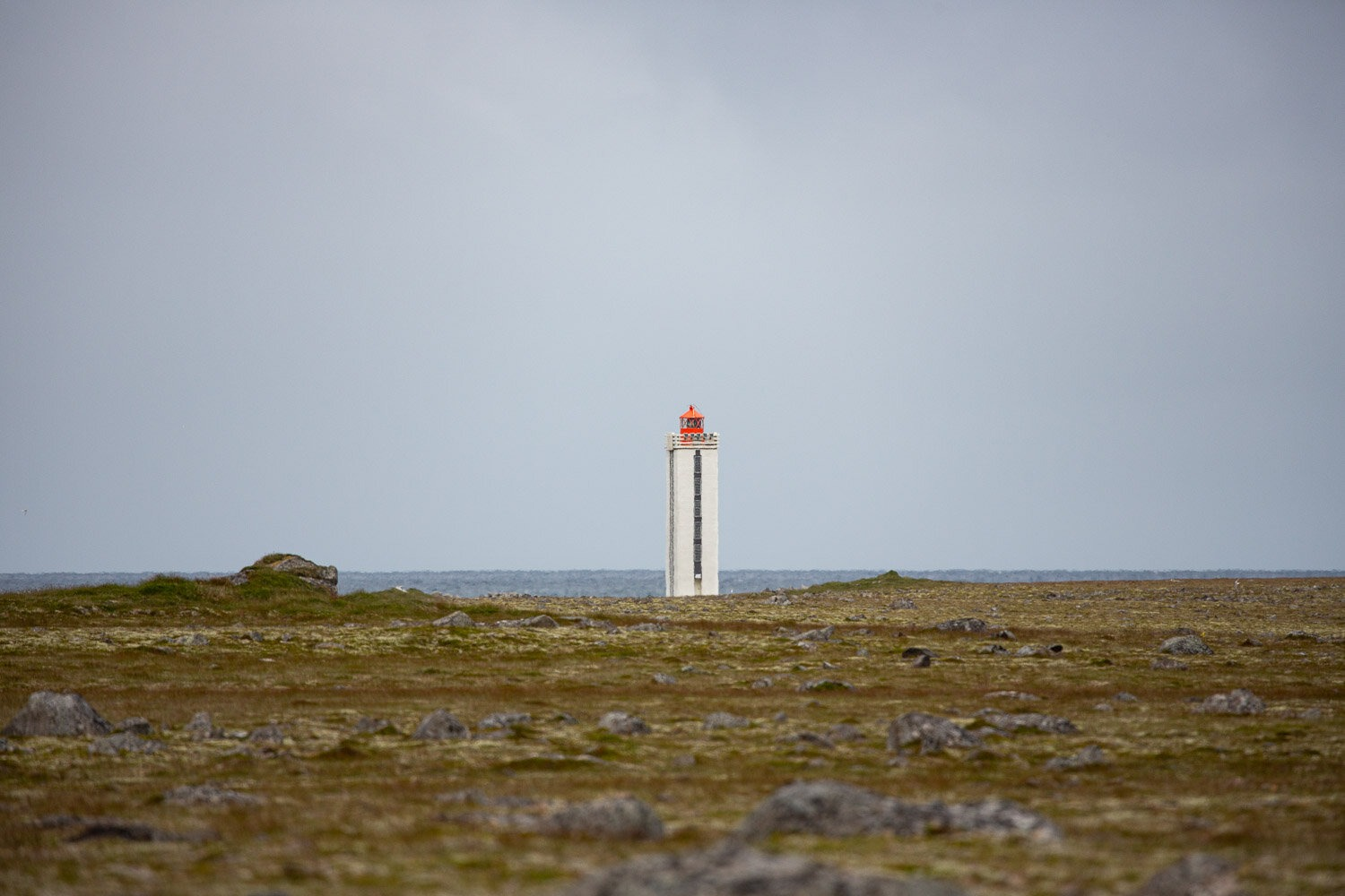Hraunhafnartangi Lighthouse the most northerly point in Iceland