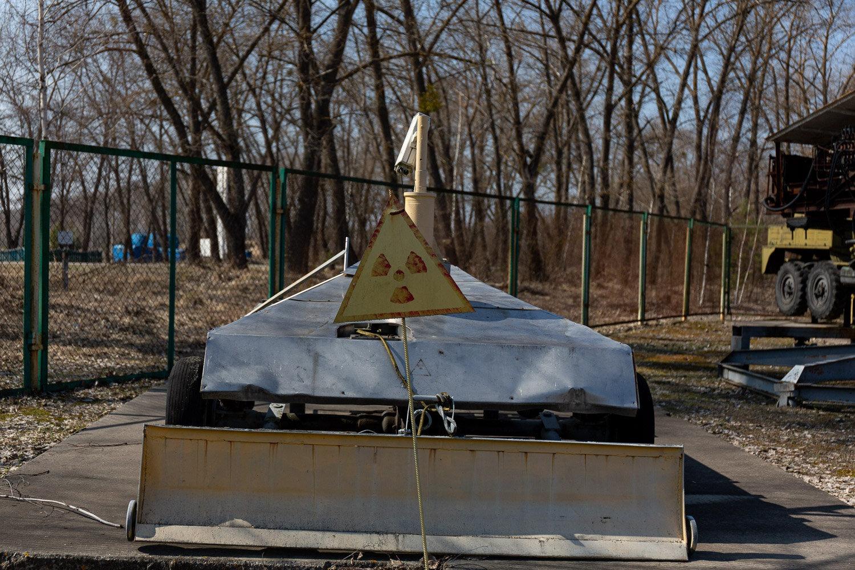 Radiation sign at Chernobyl
