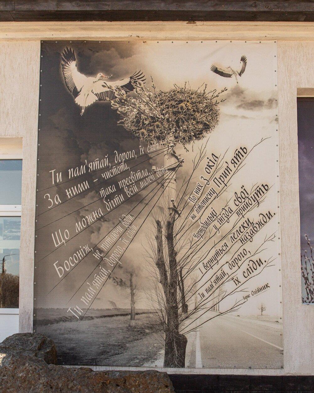 Dove art work in chernobyl