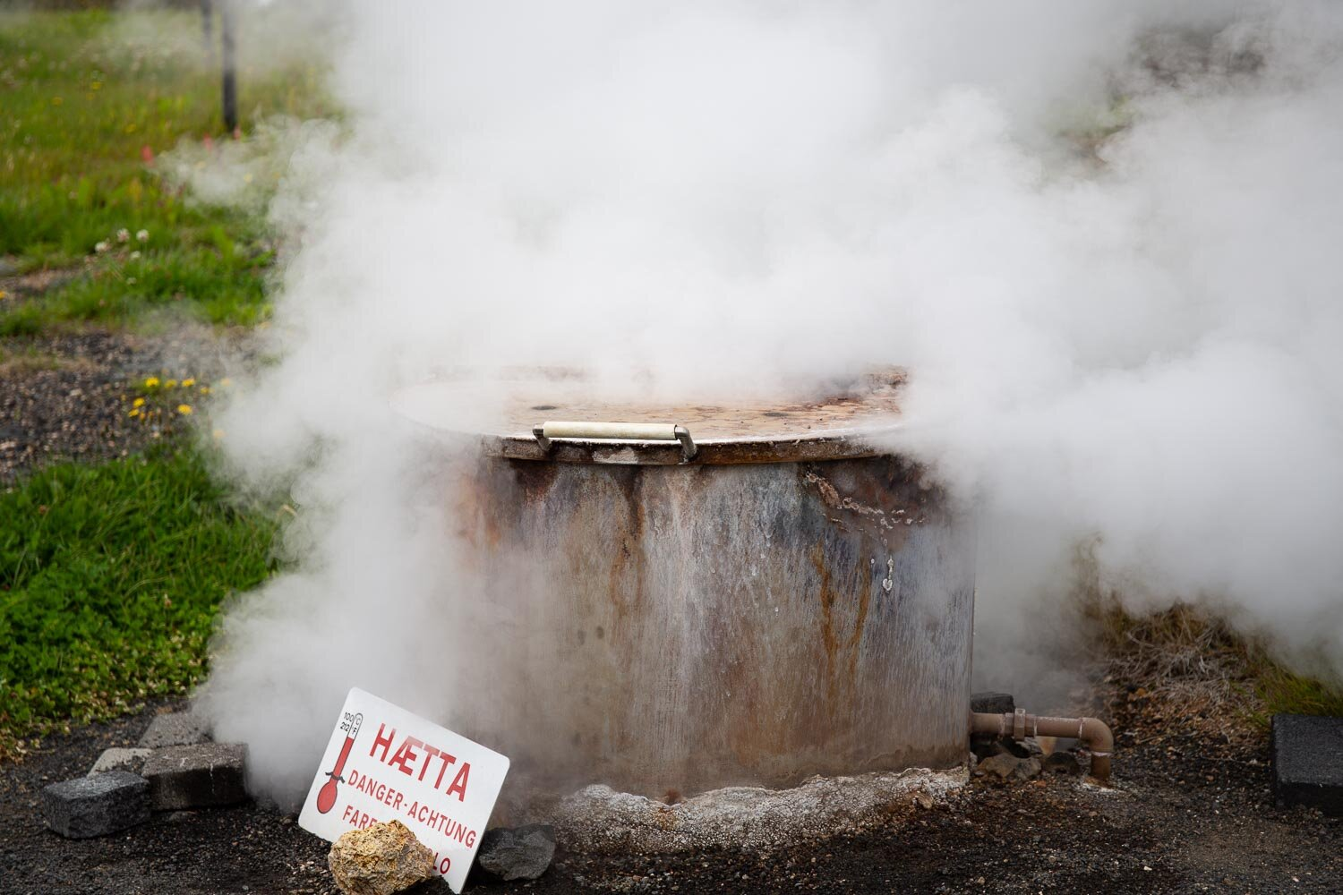 steaming vent in Iceland