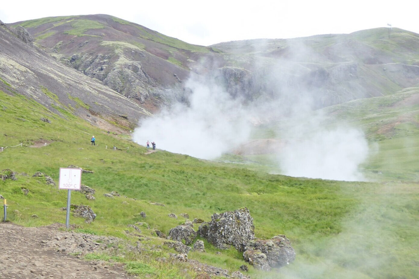Steaming river in Iceland