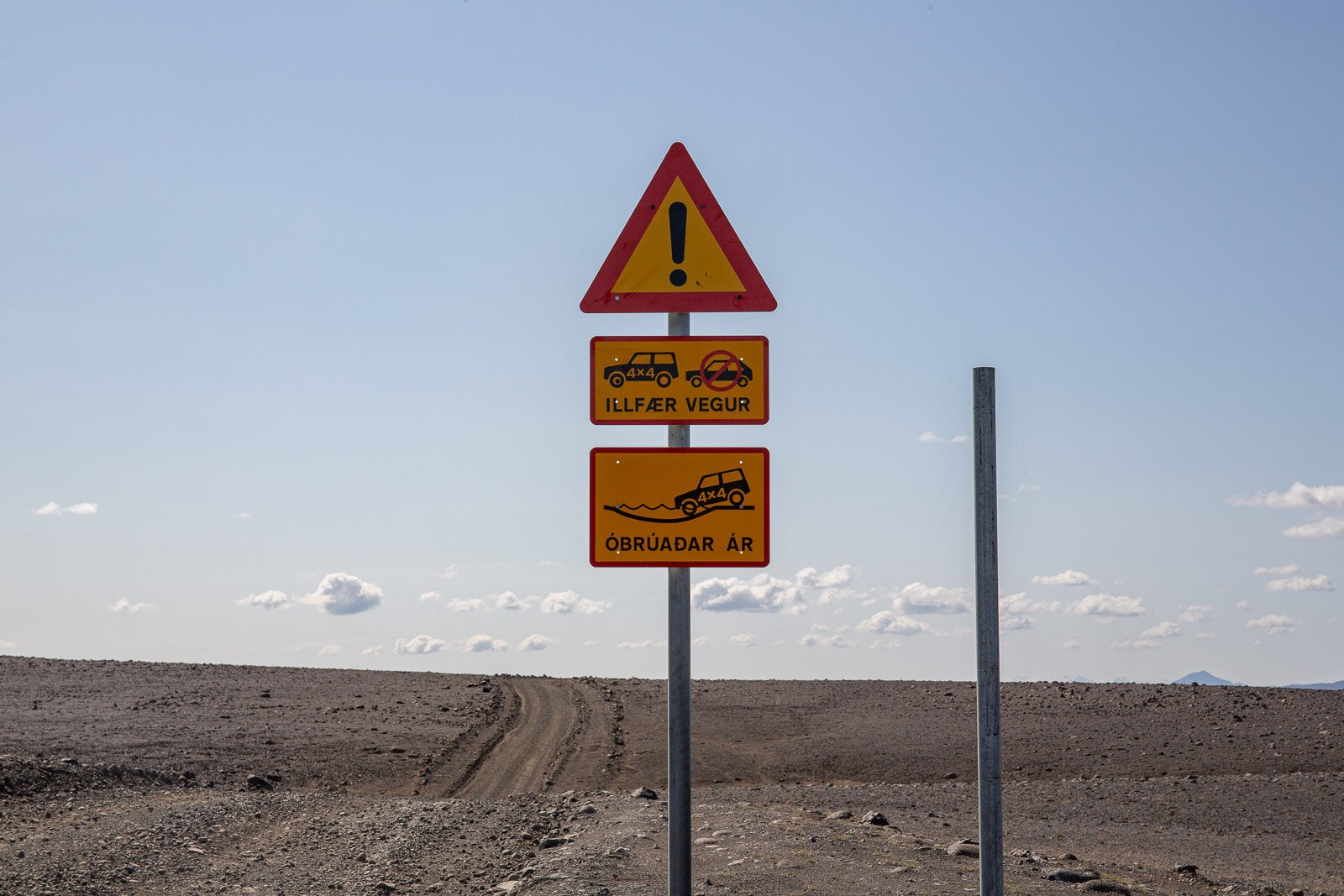 warning signs for f910 in Iceland