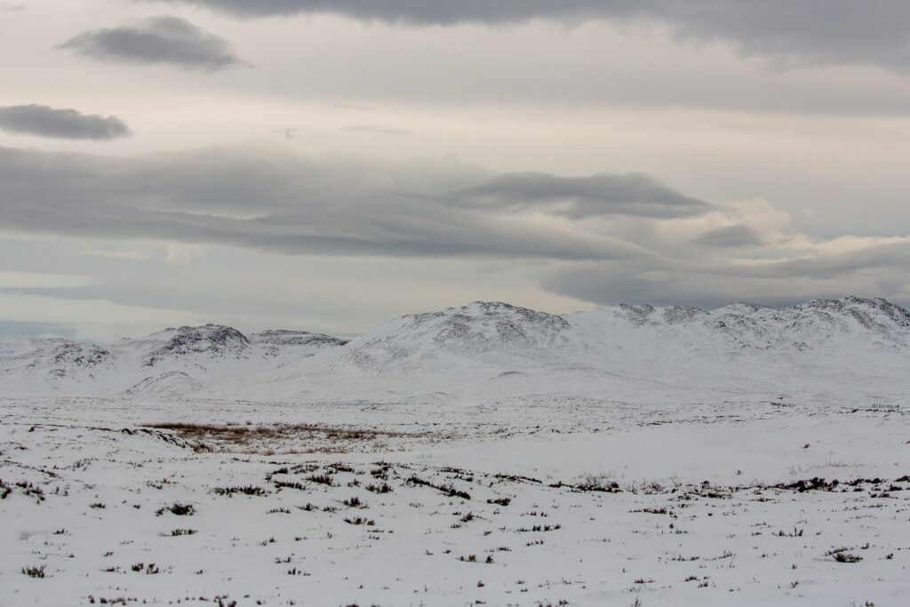 cairngorm mountains with snow