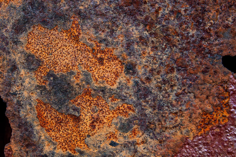 orange rust on metal