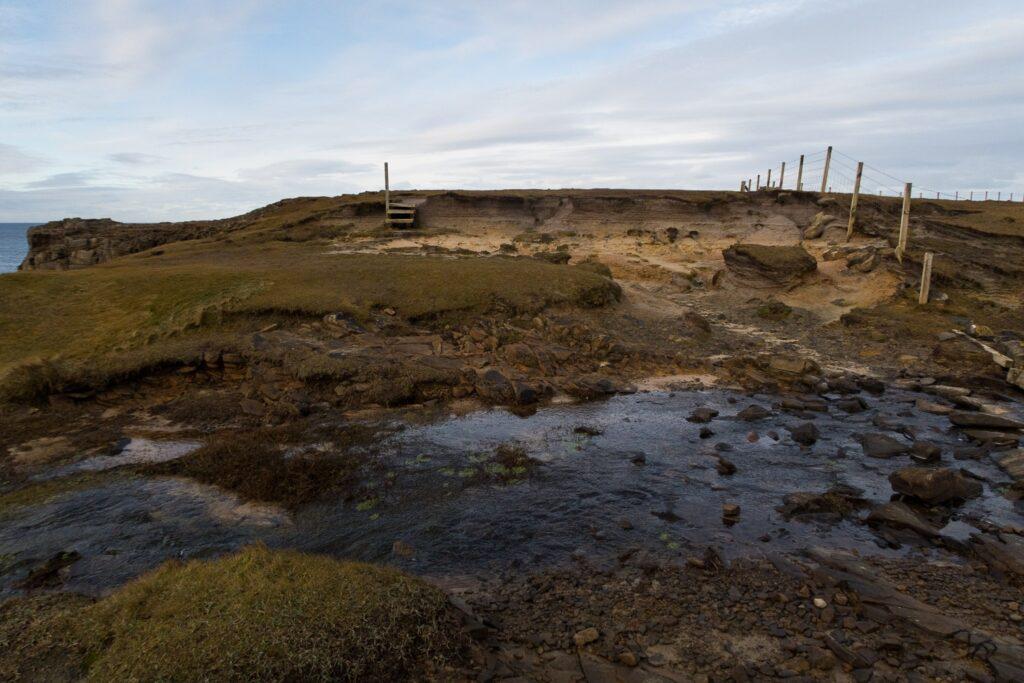 coast path and stream