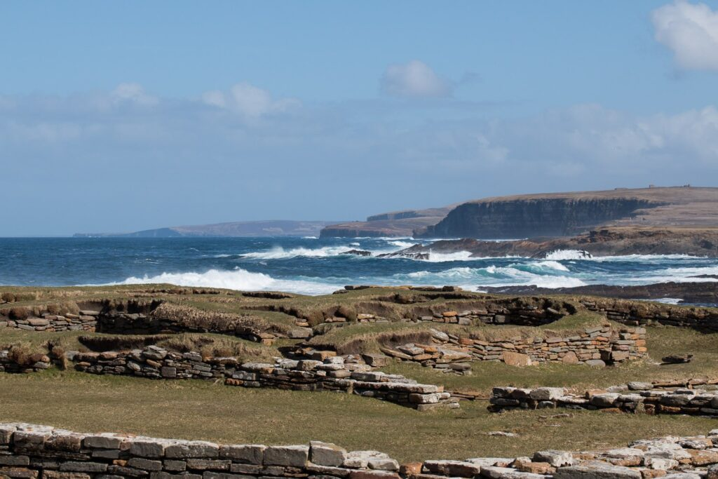 Pictish village remains with sea