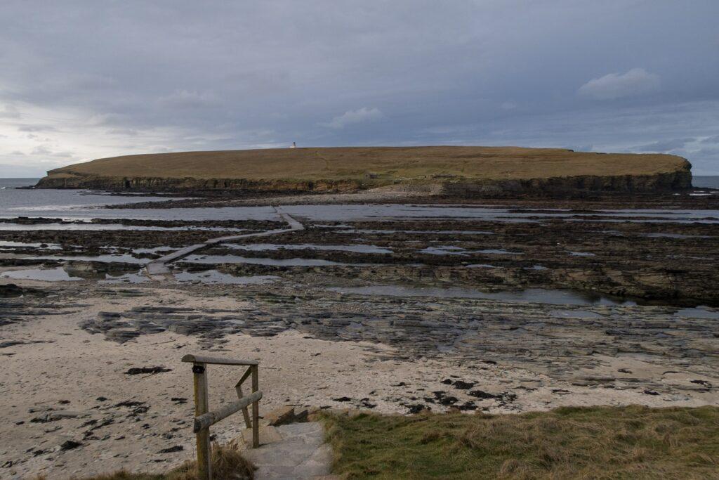 Causeway to tidal island