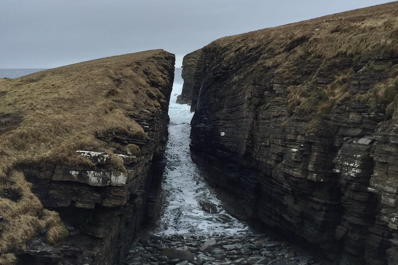 Deep inlet on cliffs