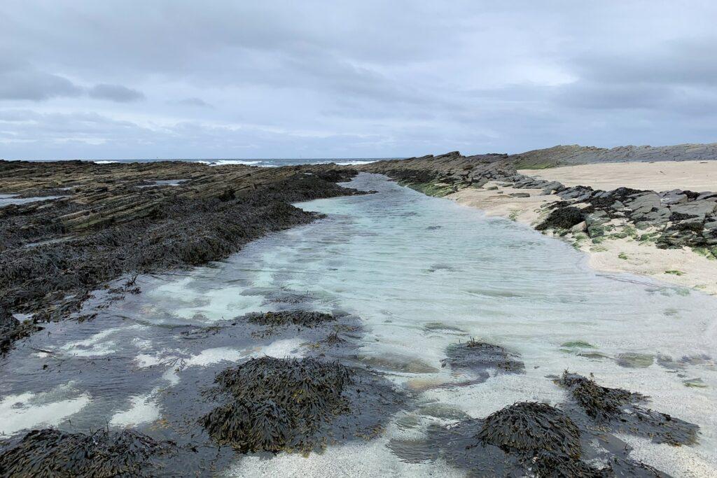 blue rock pools in Orkney