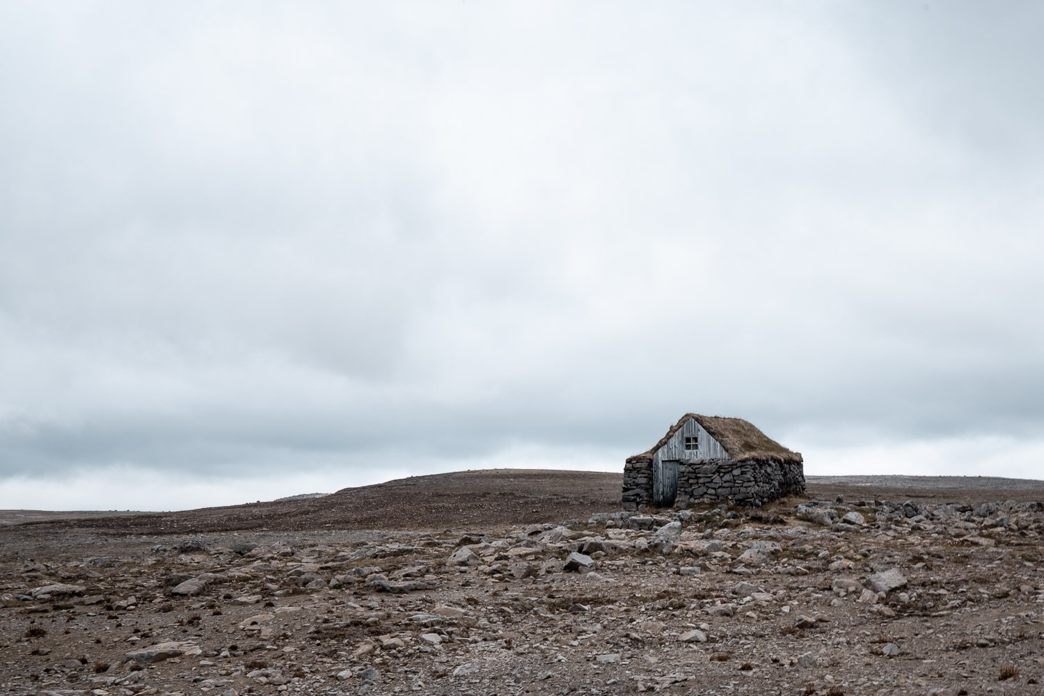 small mountain hut in iceland
