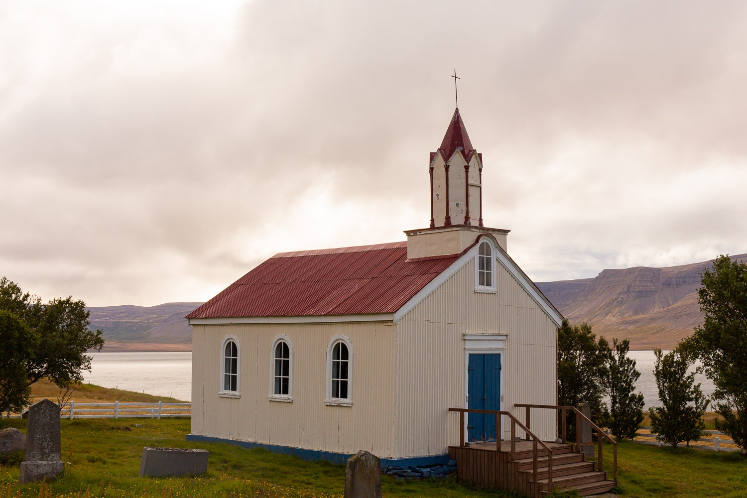 small white church in Iceland