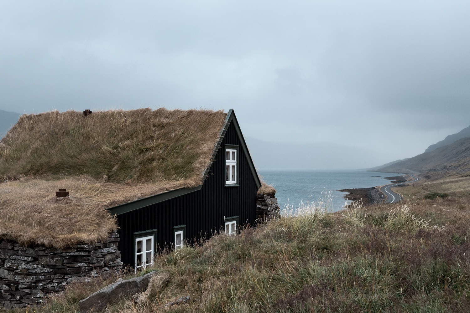small turf roofed building in Westfjords