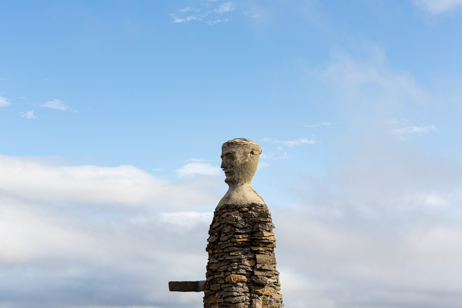 man made of stone in Iceland