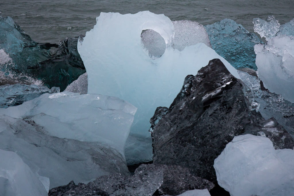 icebergs in a range of colours