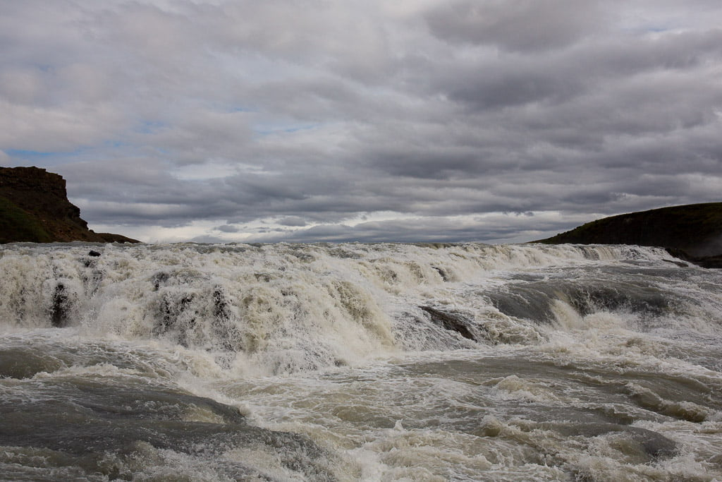 Fast flowing river in Iceland