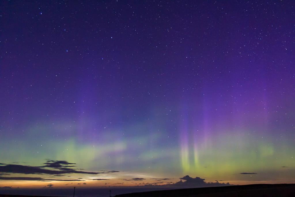 northern lights over Scotland