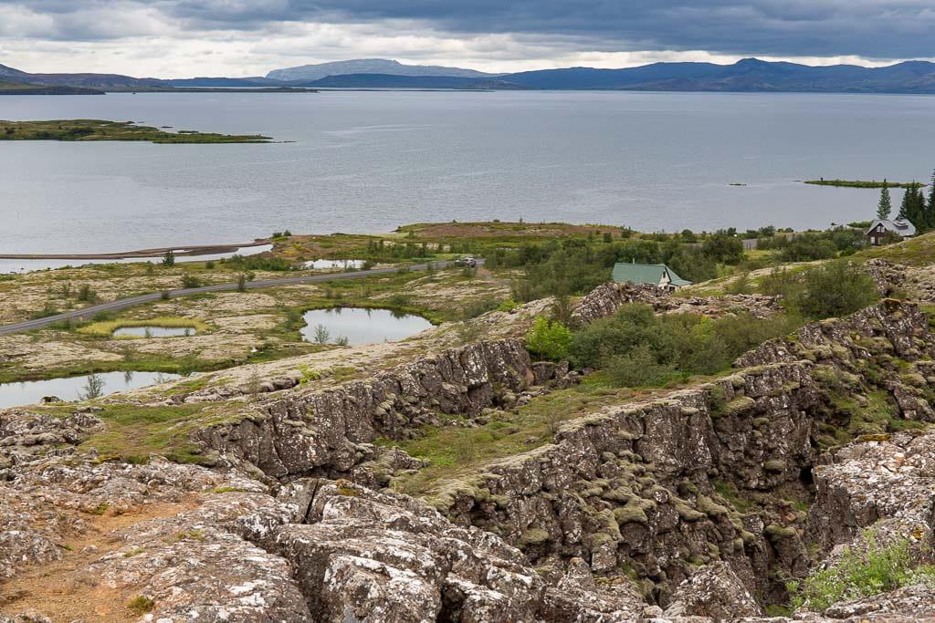 fissure and lake at Thingvellir