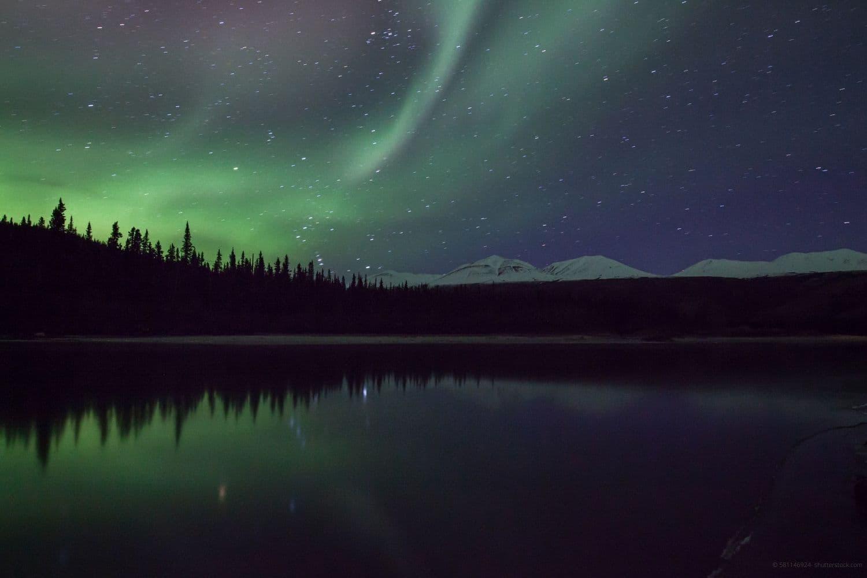 northern lights over Denali