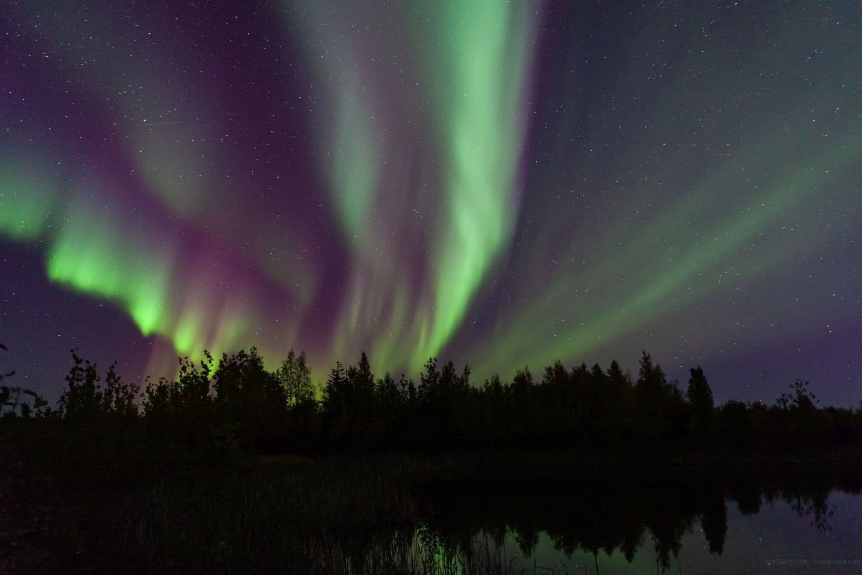 northern lights over Yellowknife
