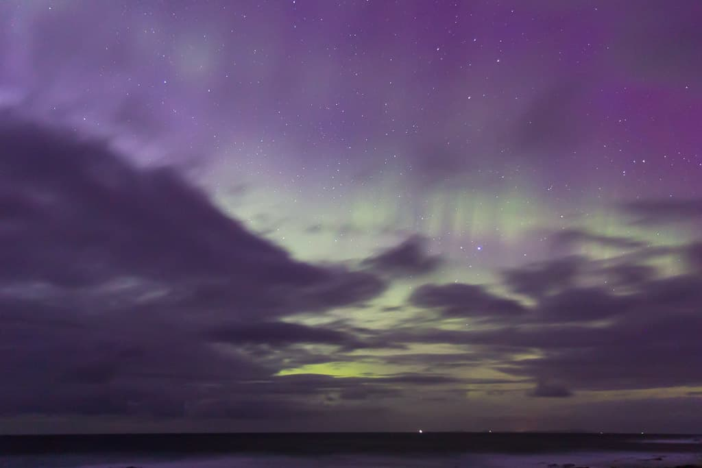 clouds masking the northern lights