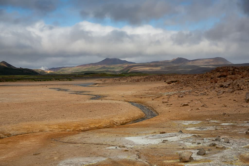 River through geothermal area in Iceland