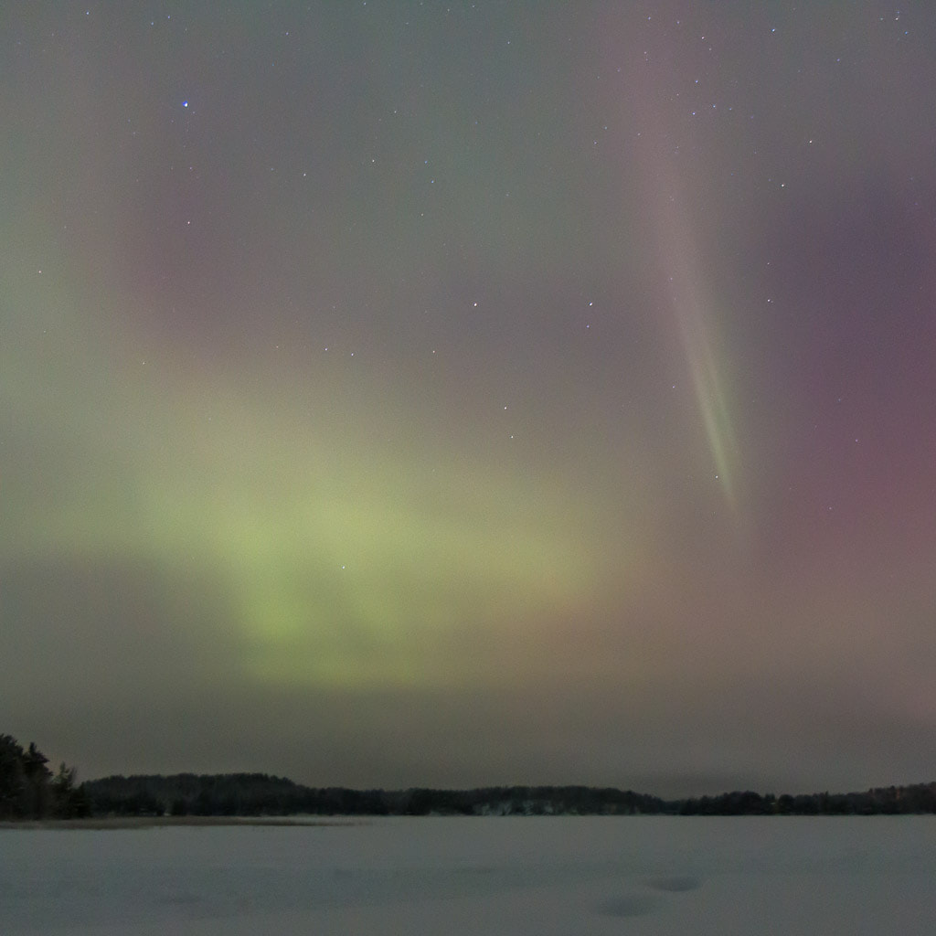 Streat of northern lights in Finland