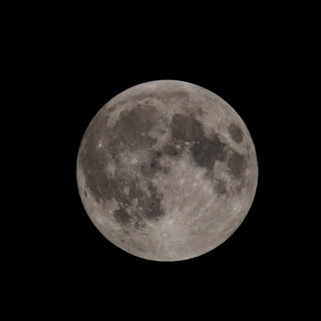 moon on a dark sky