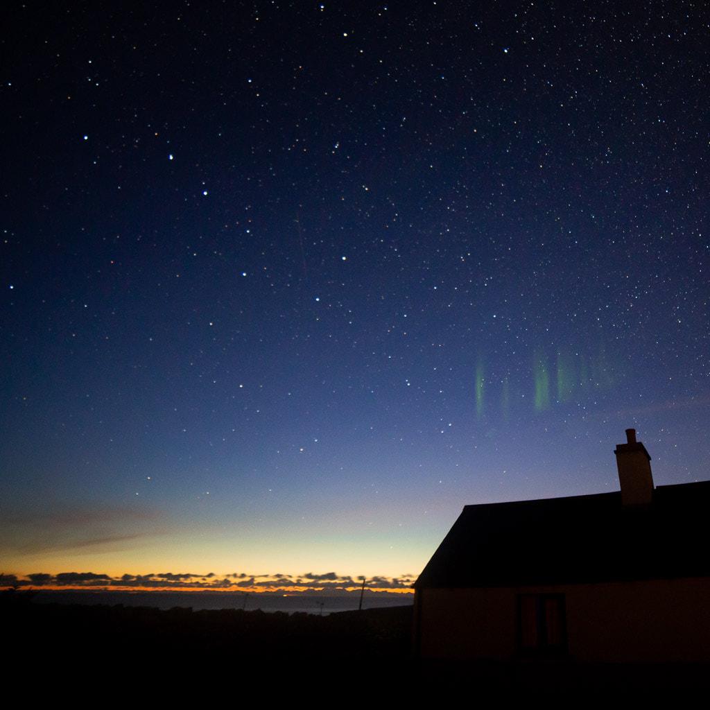streaks of northern lights