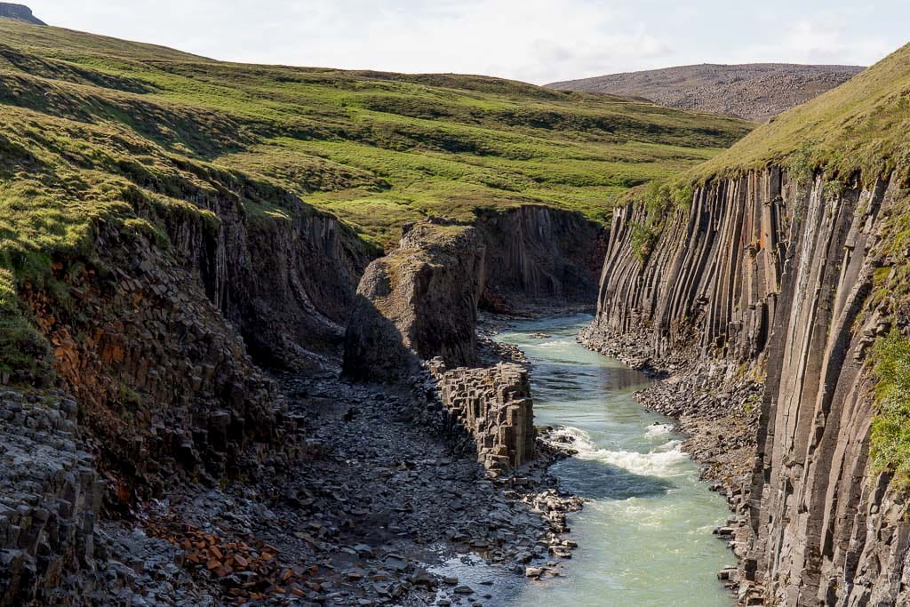 Studlagil canyon in Iceland