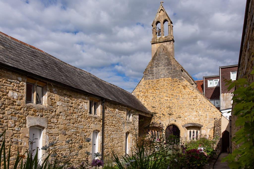 Almshouses and chapel in Glastonbury