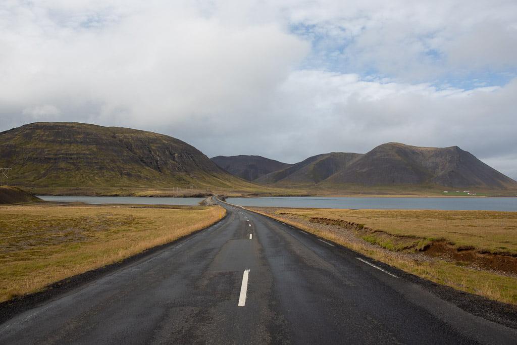 Road on Snaefellsnes peninsula of Iceland
