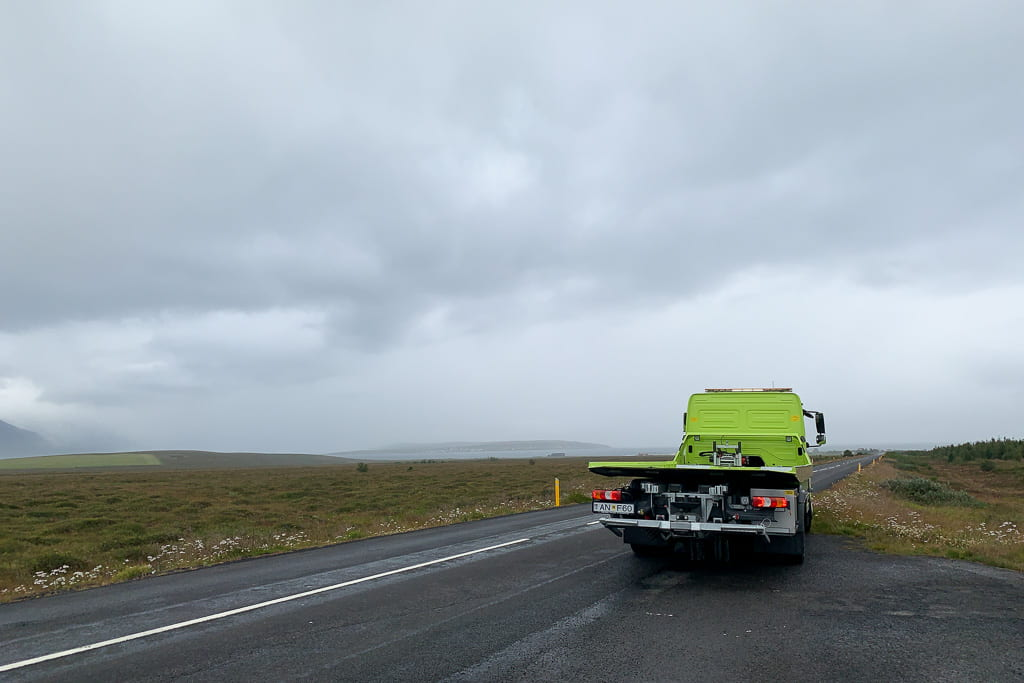 low loader recovery vehicle in Iceland