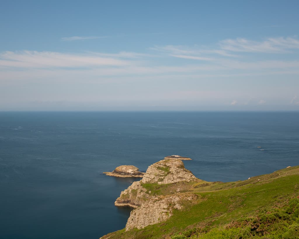 Rocky outcrop with blue sky