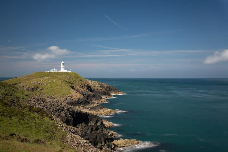 Strumble Head lighthouse in Pembrokeshire